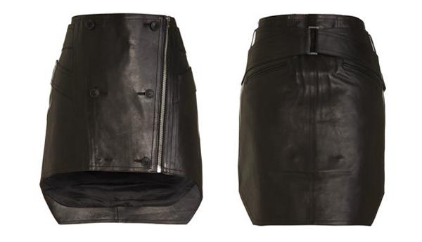 Alexander Wang Harness Leather Mini Skirt